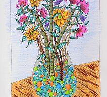 Flowers in Vase by EllenGambrell