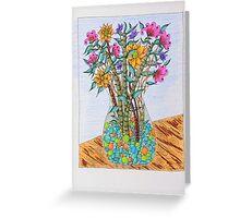 Flowers in Vase Greeting Card