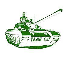 TANK CAT! Photographic Print