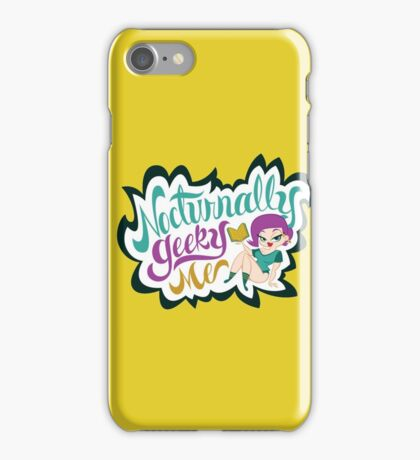 Nocturnally Geeky Me Banner iPhone Case/Skin