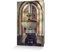 The Font Greeting Card
