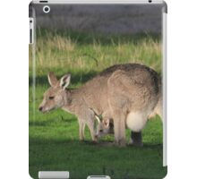Eastern Grey Kangaroo and Joey iPad Case/Skin