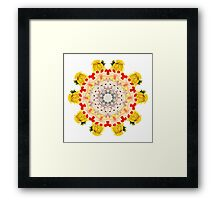 Royal Kitties, Cakes + Diamonds Mandala Framed Print