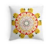 Royal Kitties, Cakes + Diamonds Mandala Throw Pillow