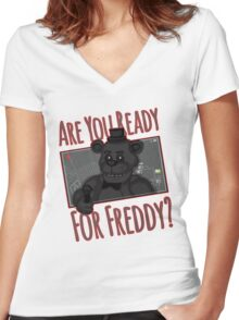 Five Night at Freddy Quotes Women's Fitted V-Neck T-Shirt