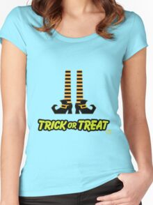 Witch Shoes Trick or Treat Women's Fitted Scoop T-Shirt