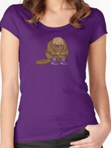 Bieber Beaver Women's Fitted Scoop T-Shirt