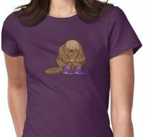Bieber Beaver Womens Fitted T-Shirt