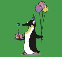 Party Time Penguin Kids Tee