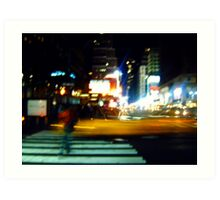 Ghost on the Times Square Art Print