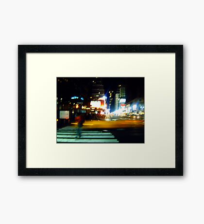 Ghost on the Times Square Framed Print