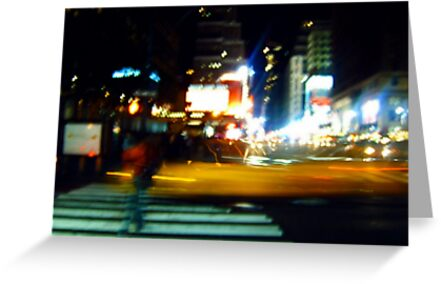 Ghost on the Times Square by Benedikt Amrhein
