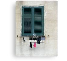 Sicily - Socks and knickers out to dry Canvas Print