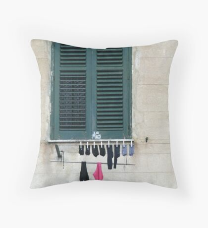 Sicily - Socks and knickers out to dry Throw Pillow