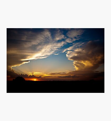 Sunset over the Central Highlands Photographic Print