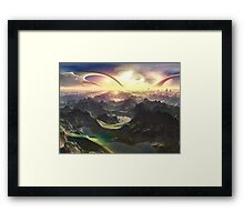 Angels Valley - New Eden Framed Print