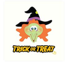 Witch Trick or Treat Art Print
