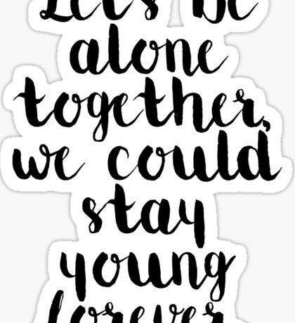 Fall Out Boy Lyric Sticker