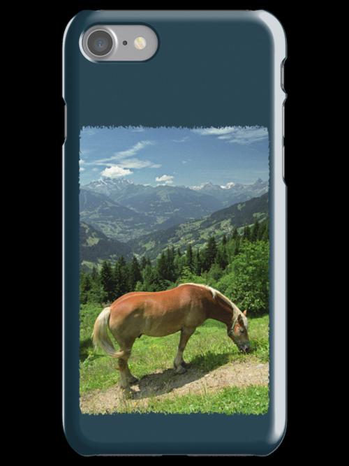 Horse at Kristberg (iPhone case) by Lenka