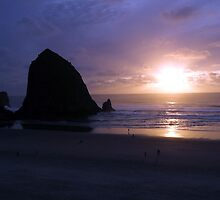 Haystack Sunset by Danielle Morin