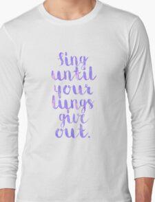 Fall Out Boy Lyric Long Sleeve T-Shirt