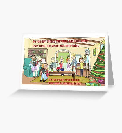 Rick and Morty-- Christmas Greeting Card