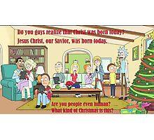 Rick and Morty-- Christmas Photographic Print