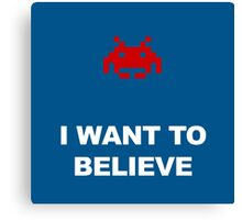 X-Invaders I want to Believe - Graphic Canvas Print