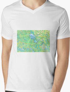 Dumbleyung Gum blossoms Blue Mens V-Neck T-Shirt