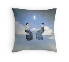 Wind, Clouds and Tea Throw Pillow