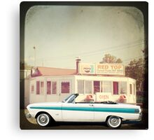 September - Drive in Canvas Print