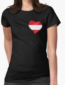 Austrian Flag - Austria - Heart T-Shirt