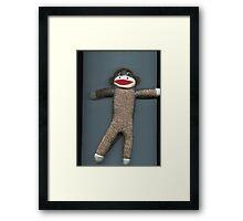 Trapped Sock Monkey  Framed Print