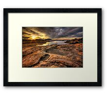 Rough and Smooth Framed Print