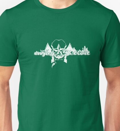 Enjoy Detroit - Decay, white Unisex T-Shirt