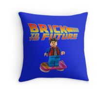 Brick to the Future with Marty Mcfly Throw Pillow