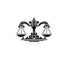 Libra Black iPhone case by elangkarosingo