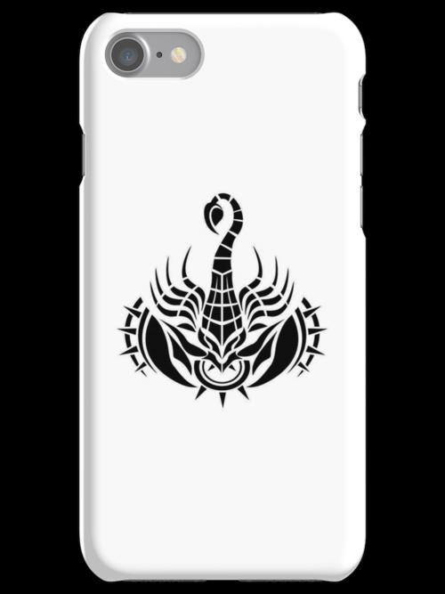 Scorpion Black iPhone case by elangkarosingo