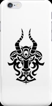 Capricorn Black iPhone case by elangkarosingo