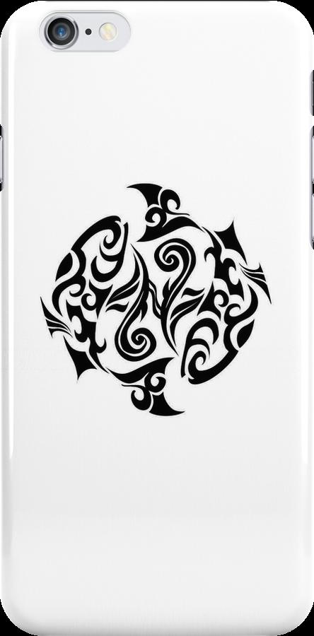 Pisces Black iPhone case by elangkarosingo