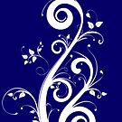 Navy Blue Scrolls by martoq