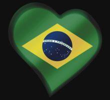Brazilian Flag - Brazil - Heart by graphix