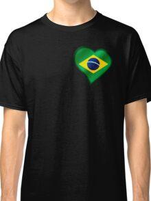 Brazilian Flag - Brazil - Heart Classic T-Shirt