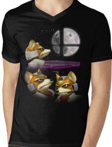 20XX: Three Fox Moon Mens V-Neck T-Shirt