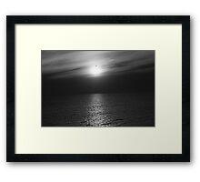 Bird Over Sun Framed Print