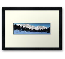 Highwood Rockies panorama Framed Print