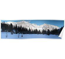 Highwood Rockies panorama Poster