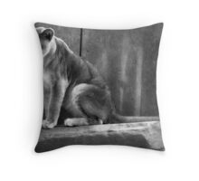 Mama Cat Throw Pillow