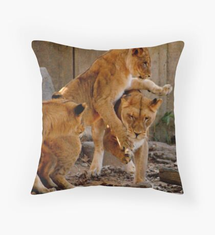 Playful Cubs Throw Pillow