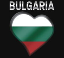Bulgaria - Bulgarian Flag Heart & Text - Metallic by graphix